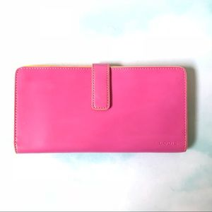 Lodis Pink and Yellow Wallet